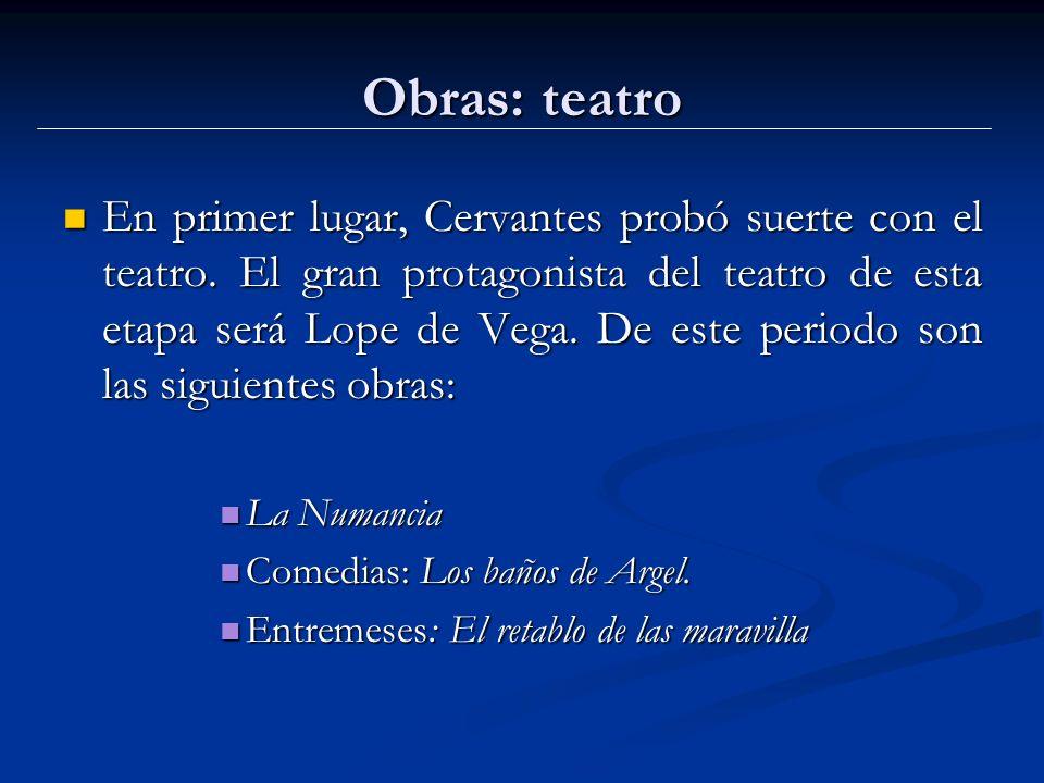 Obras: teatro