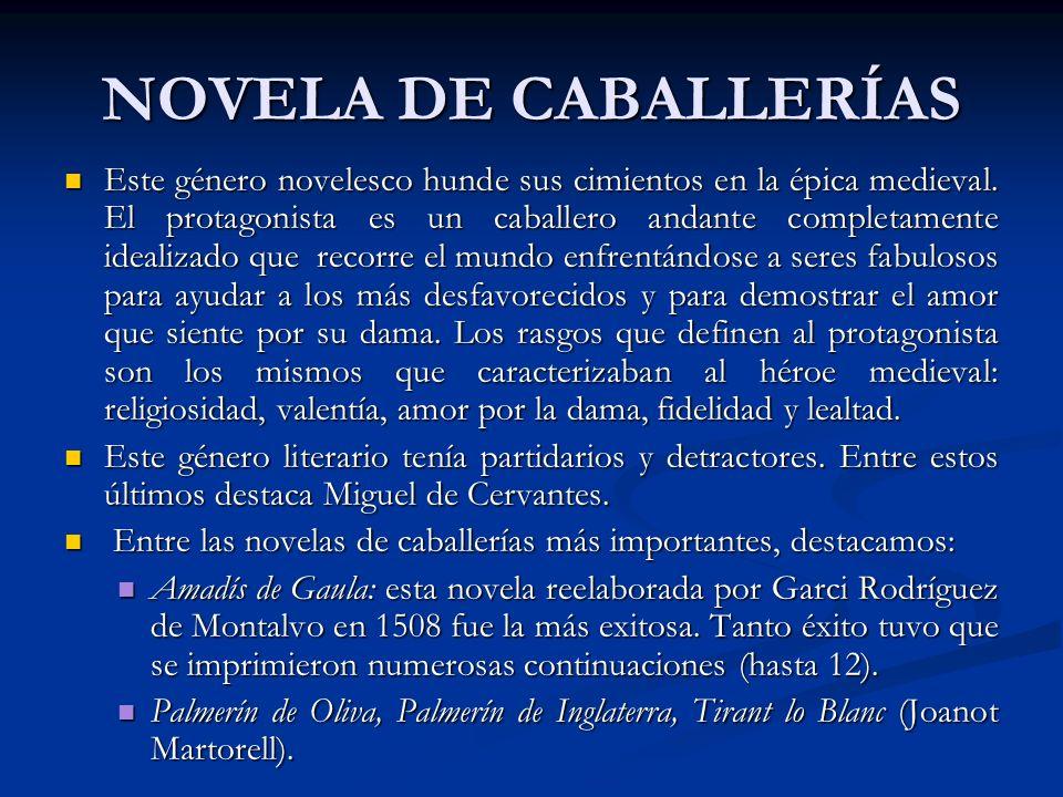 NOVELA DE CABALLERÍAS
