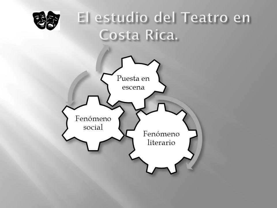 El estudio del Teatro en Costa Rica.
