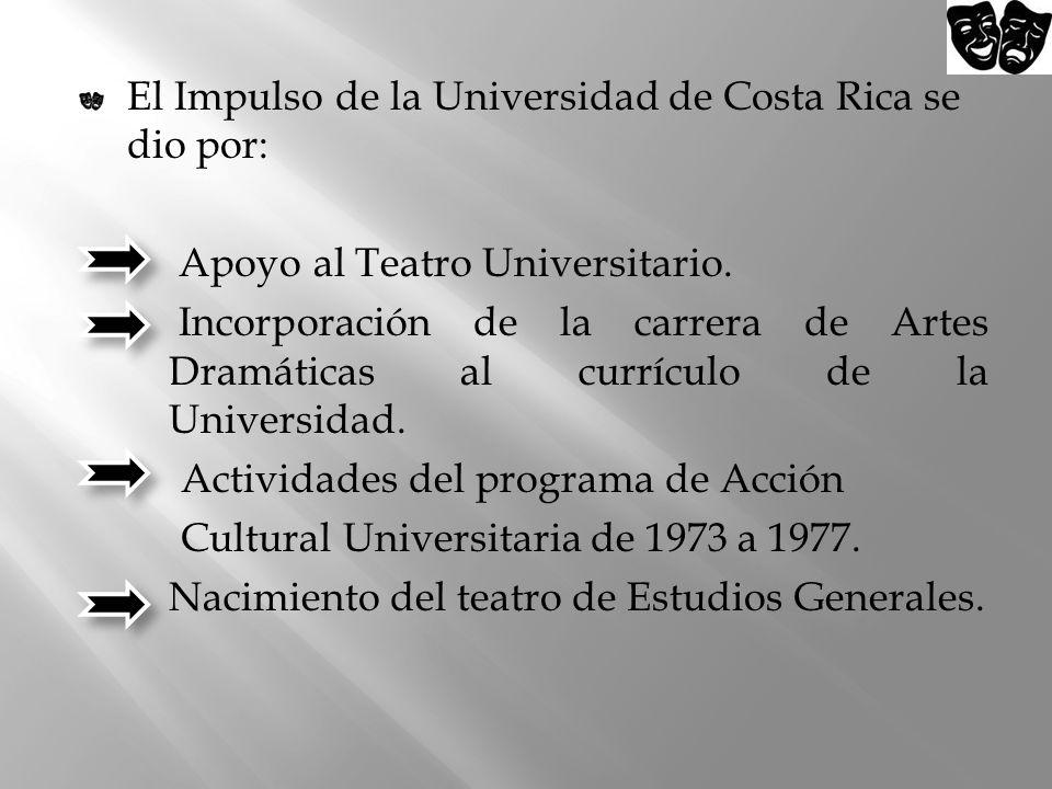 El Impulso de la Universidad de Costa Rica se dio por: