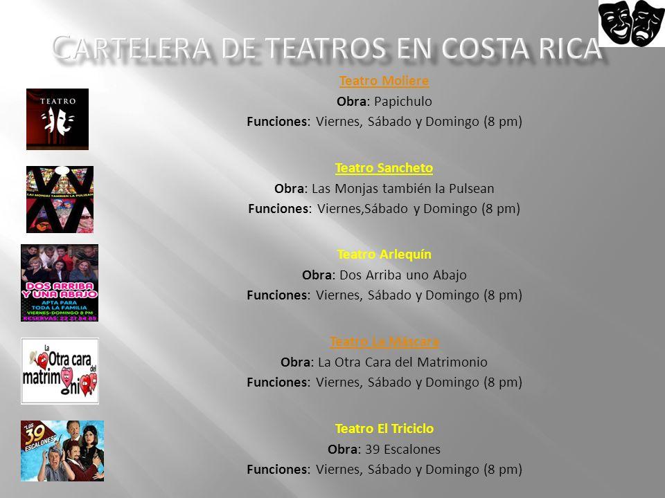 Cartelera de Teatros en Costa Rica