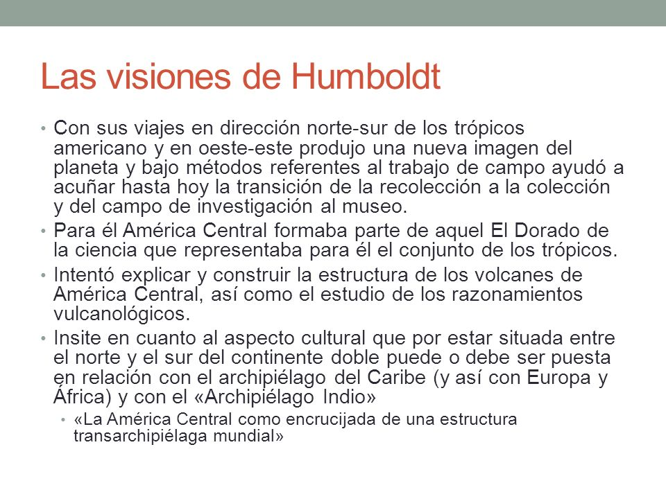 Las visiones de Humboldt