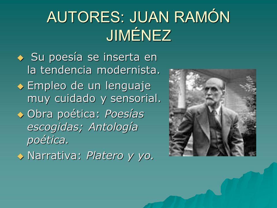 AUTORES: JUAN RAMÓN JIMÉNEZ