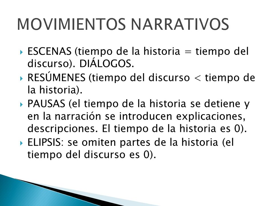 MOVIMIENTOS NARRATIVOS