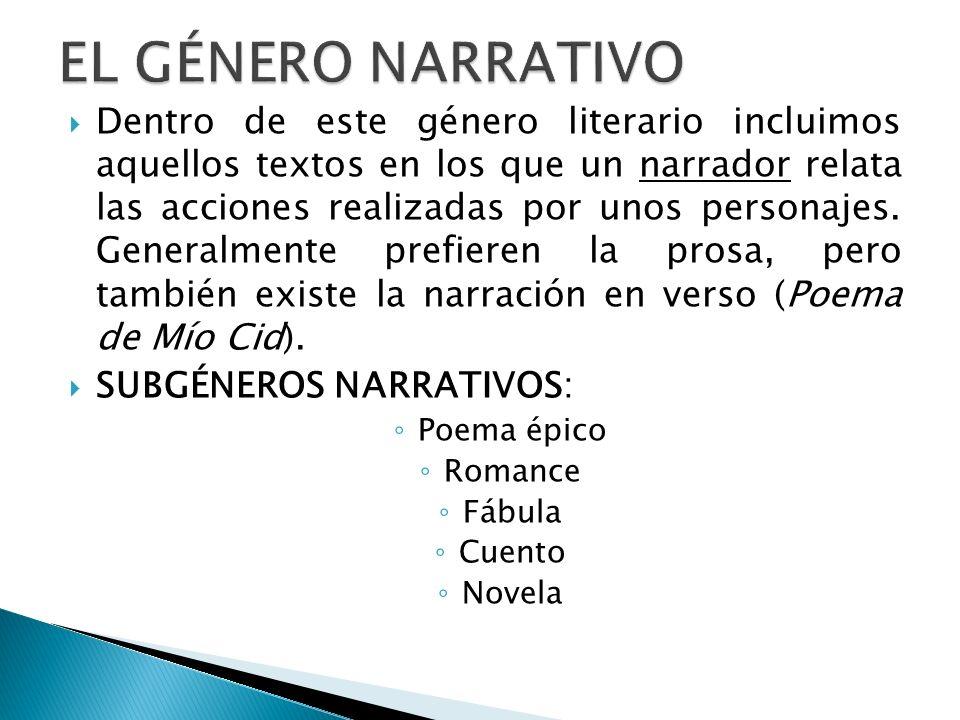 EL GÉNERO NARRATIVO
