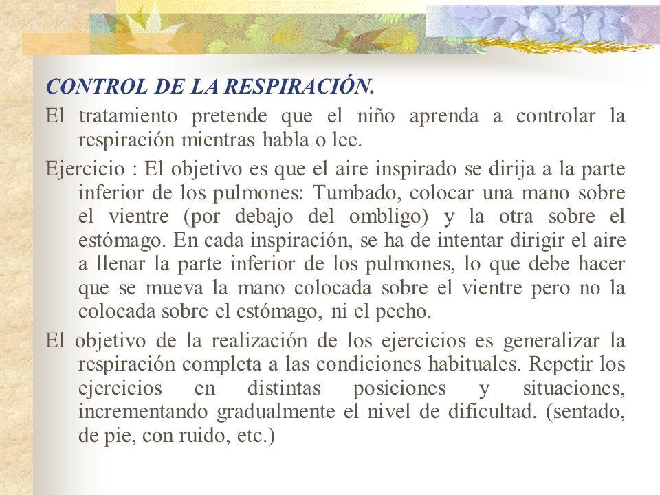 CONTROL DE LA RESPIRACIÓN.