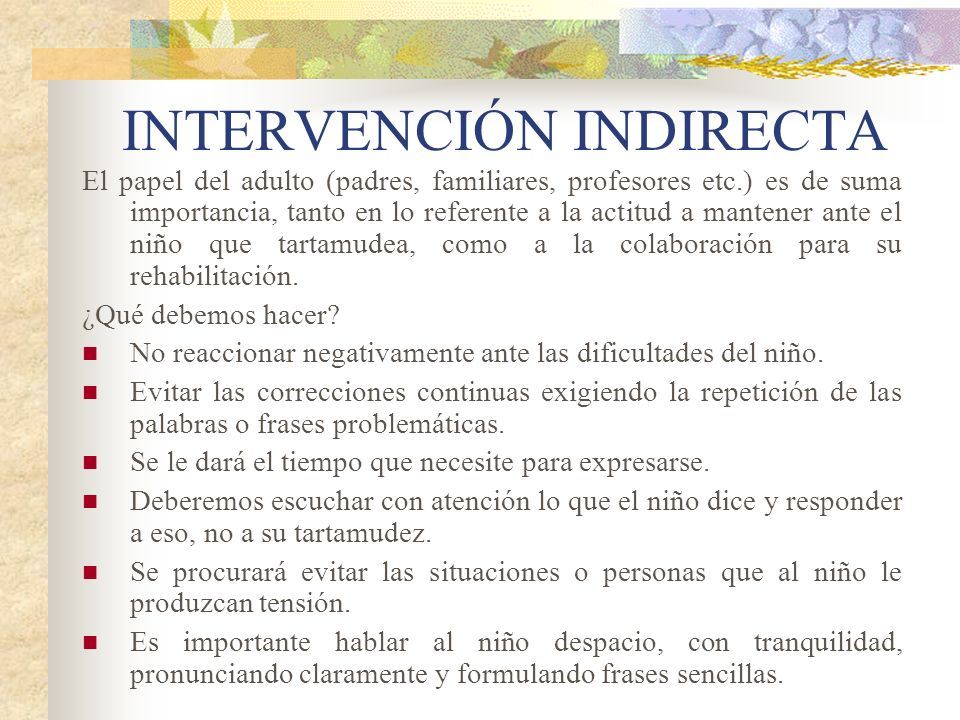 INTERVENCIÓN INDIRECTA