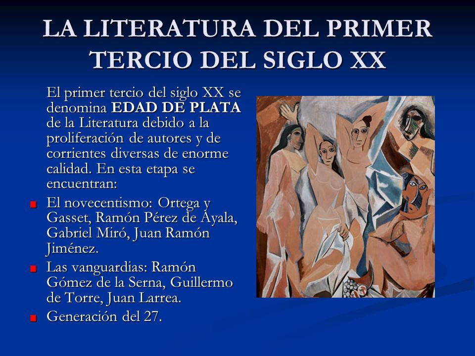 LA LITERATURA DEL PRIMER TERCIO DEL SIGLO XX
