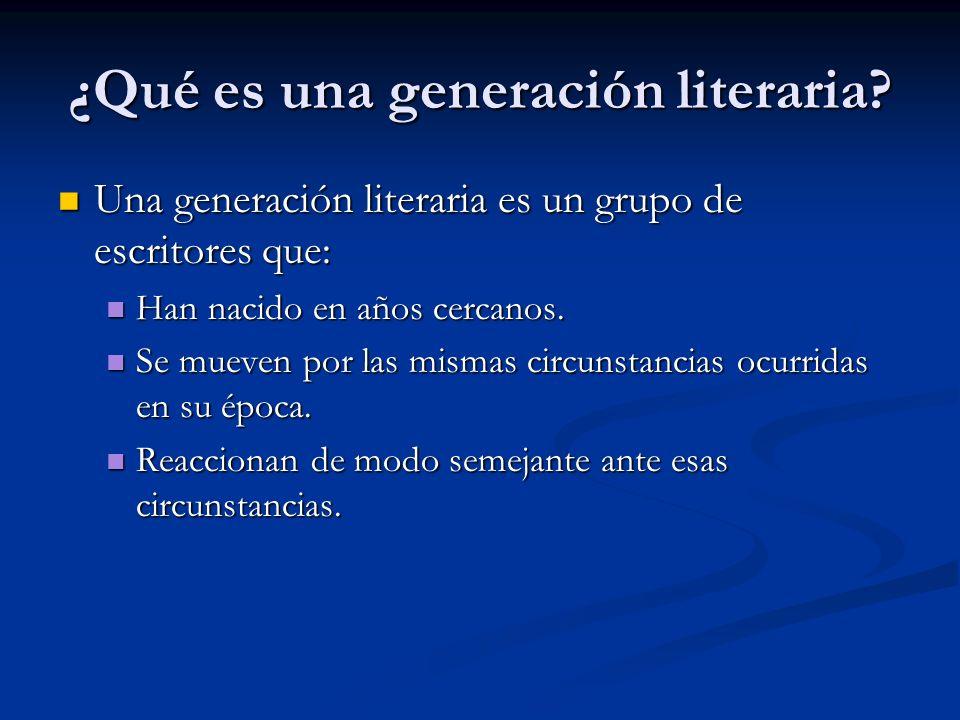 ¿Qué es una generación literaria