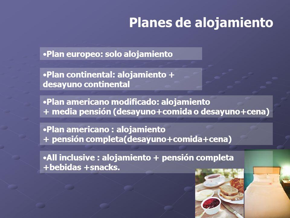 Planes de alojamiento Plan europeo: solo alojamiento