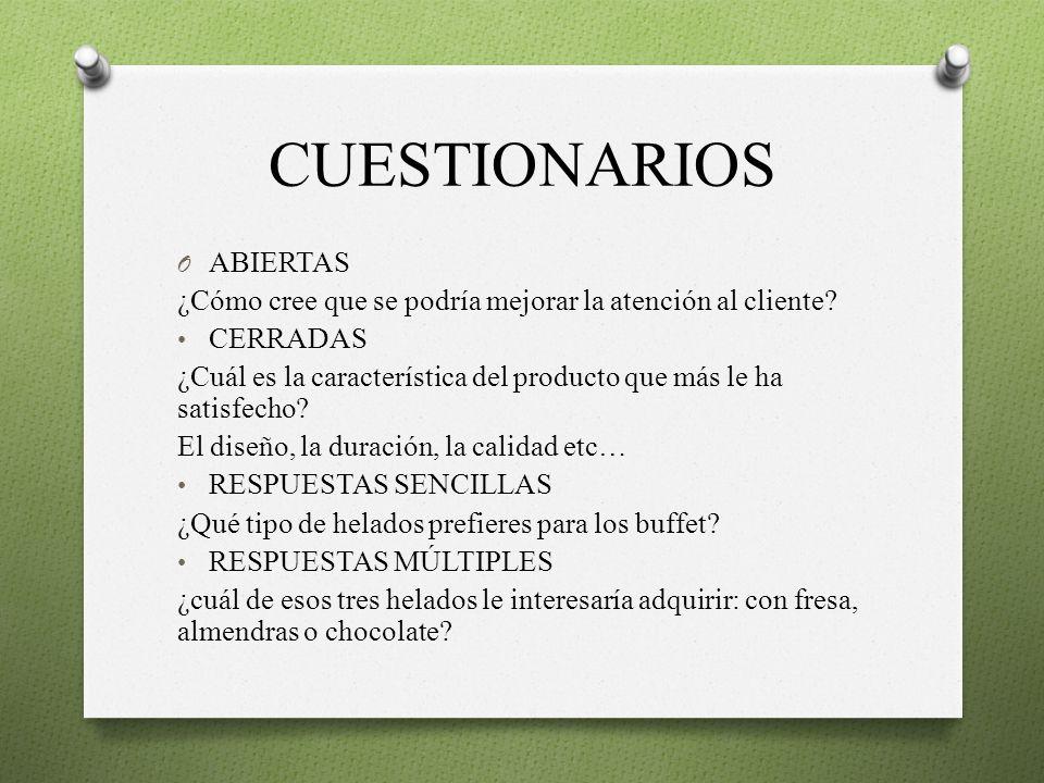 CUESTIONARIOS ABIERTAS