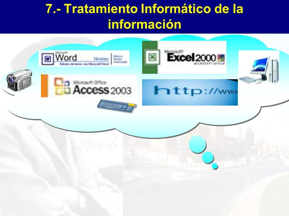 7.- Tratamiento Informático de la información