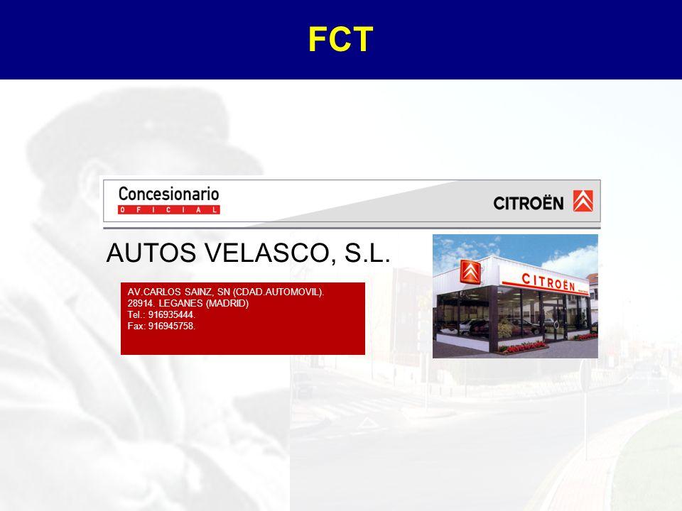 FCT AUTOS VELASCO, S.L. AV.CARLOS SAINZ, SN (CDAD.AUTOMOVIL).