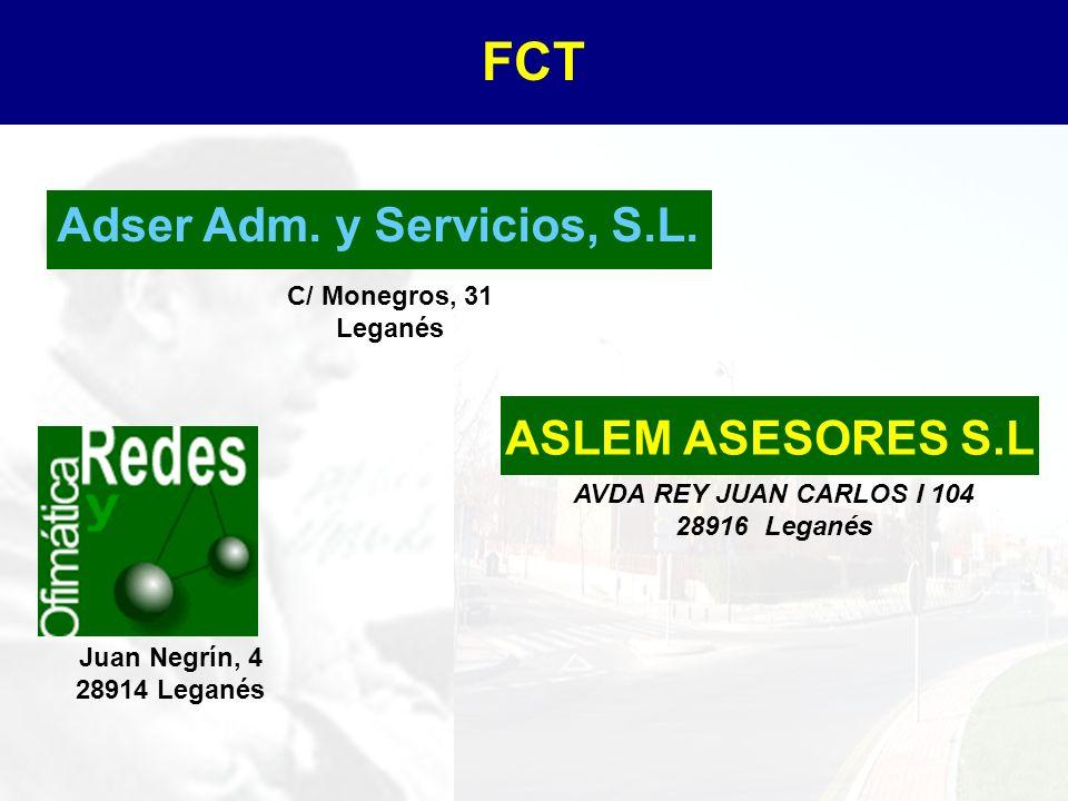 AVDA REY JUAN CARLOS I 104 28916 Leganés