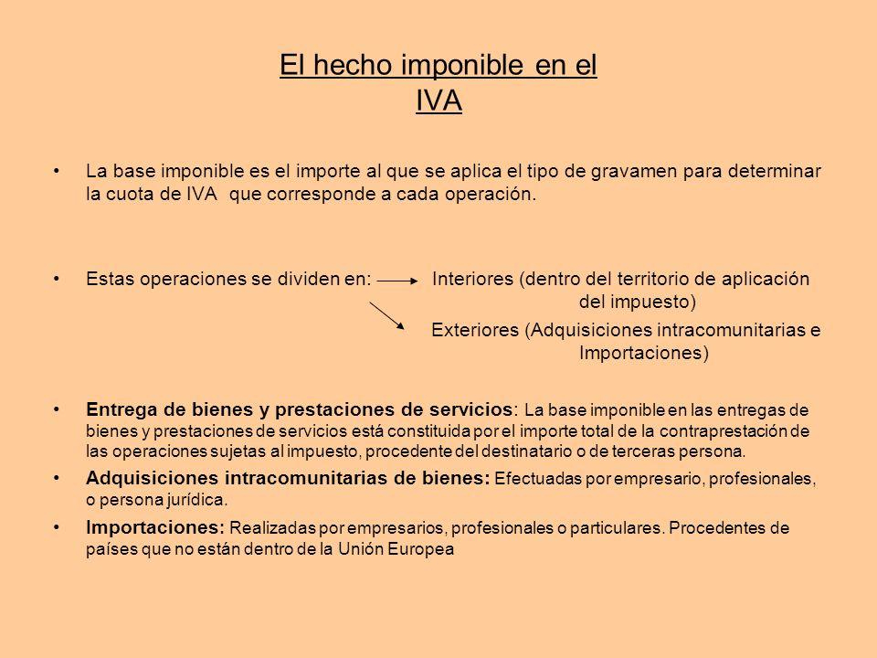 El hecho imponible en el IVA
