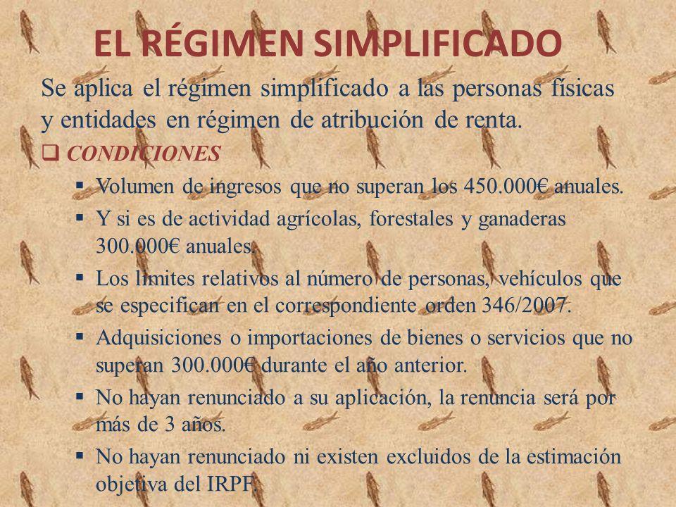 EL RÉGIMEN SIMPLIFICADO