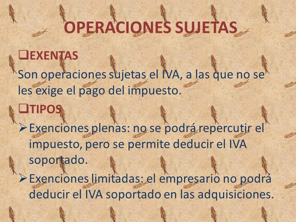 OPERACIONES SUJETAS EXENTAS