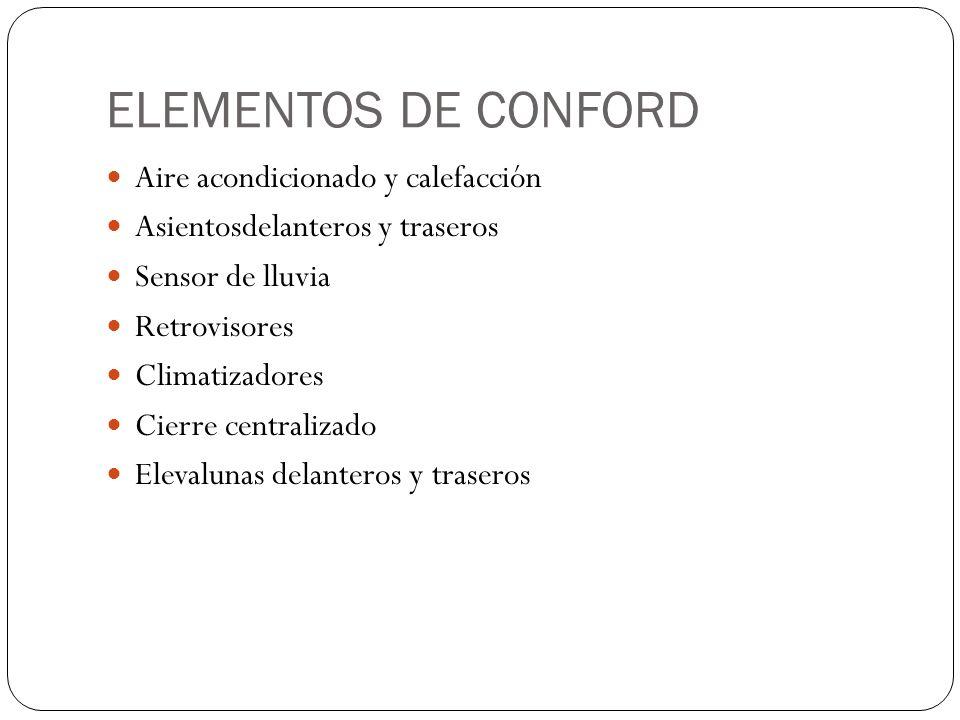 ELEMENTOS DE CONFORD Aire acondicionado y calefacción