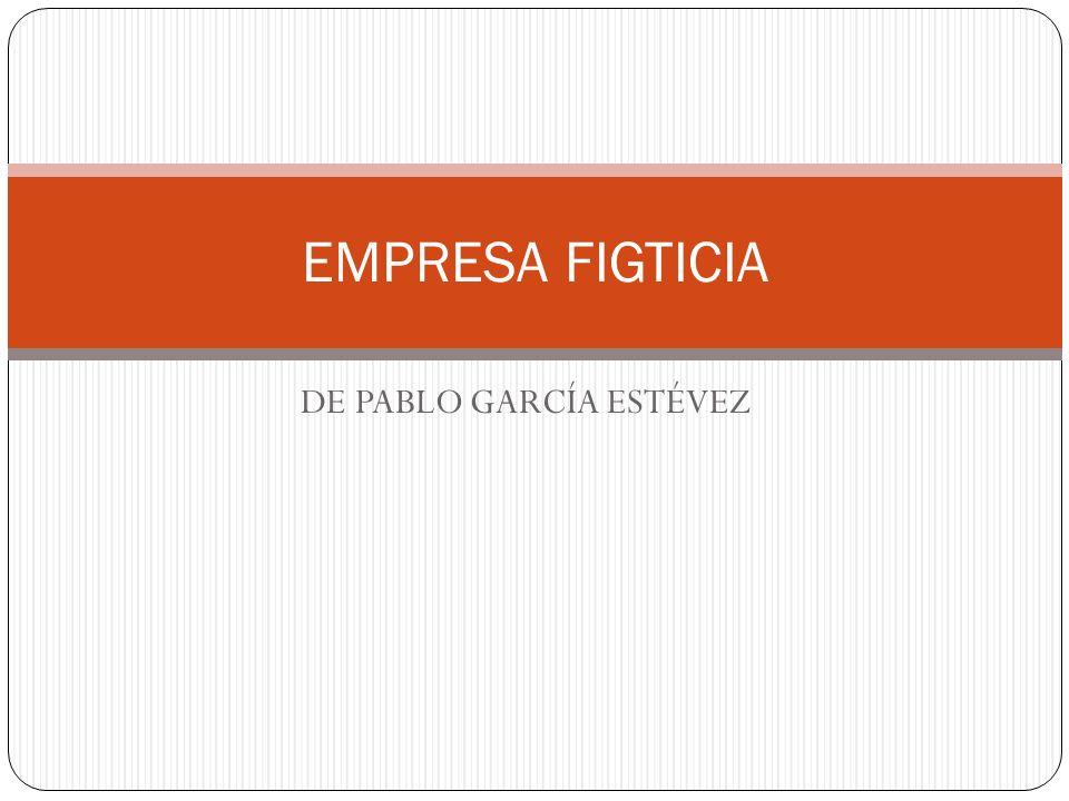DE PABLO GARCÍA ESTÉVEZ