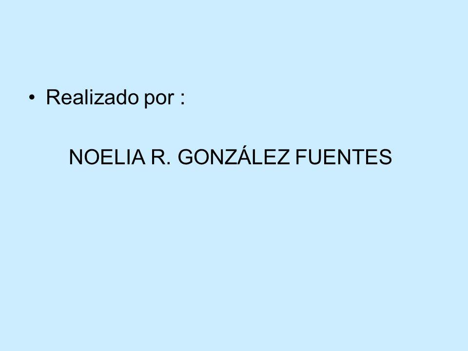Realizado por : NOELIA R. GONZÁLEZ FUENTES