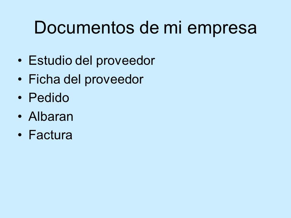 Documentos de mi empresa