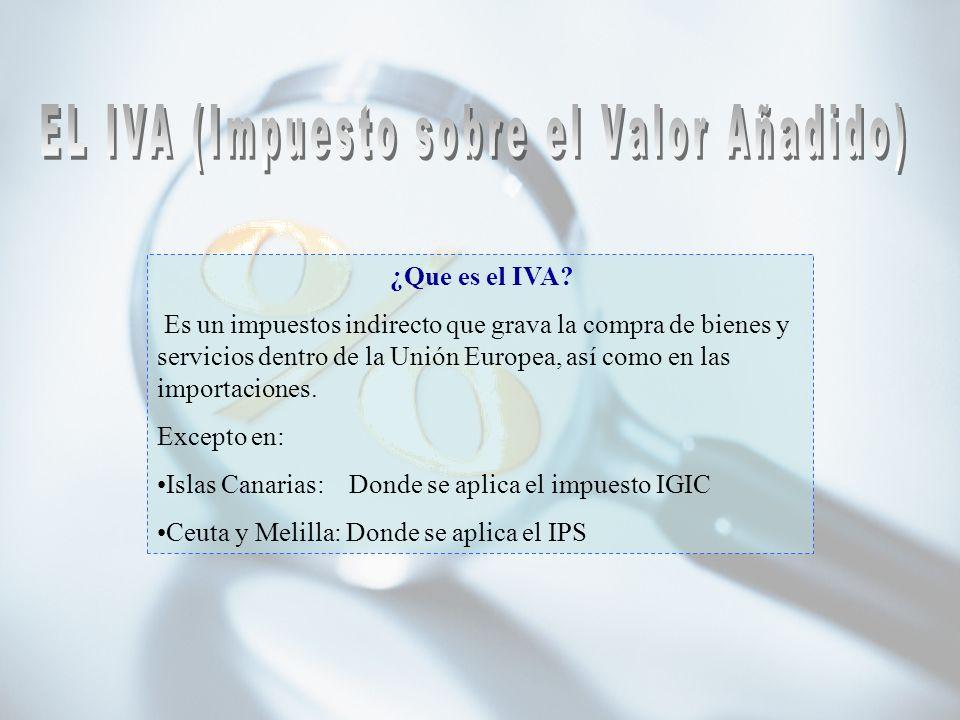 EL IVA (Impuesto sobre el Valor Añadido)