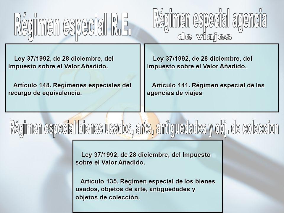 Régimen especial agencia Régimen especial R.E. de viajes