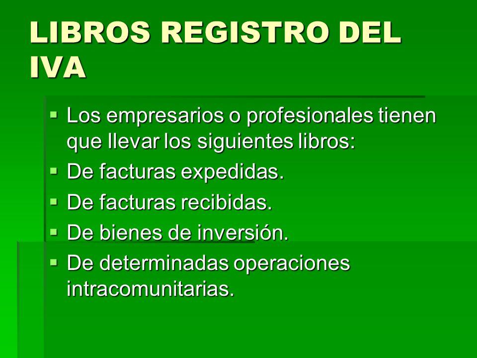 LIBROS REGISTRO DEL IVA