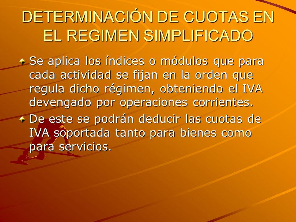DETERMINACIÓN DE CUOTAS EN EL REGIMEN SIMPLIFICADO