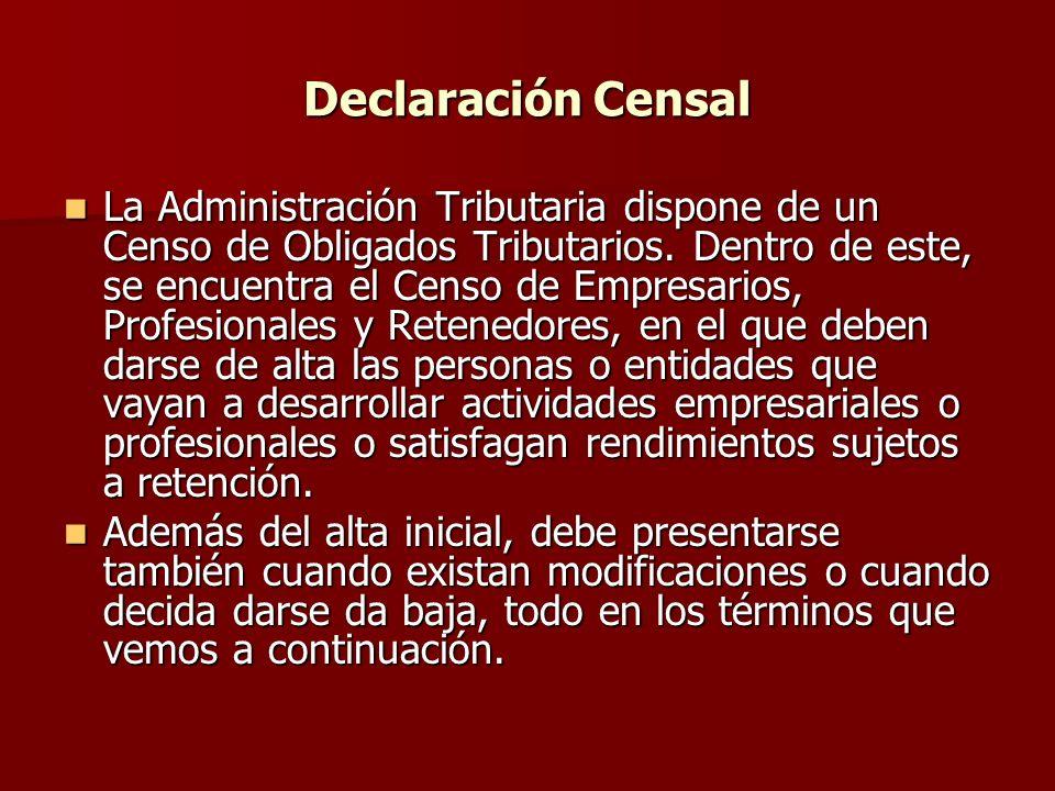 Declaración Censal