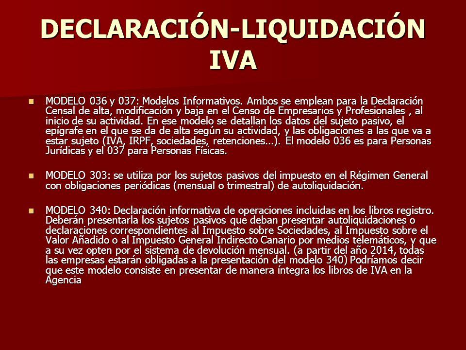 DECLARACIÓN-LIQUIDACIÓN IVA