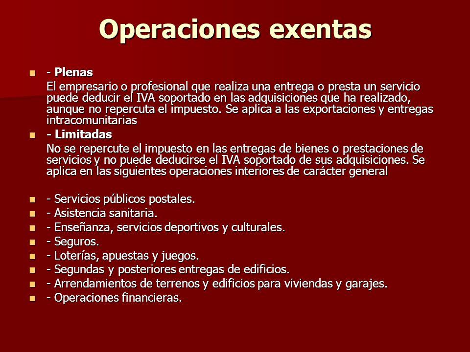 Operaciones exentas - Plenas