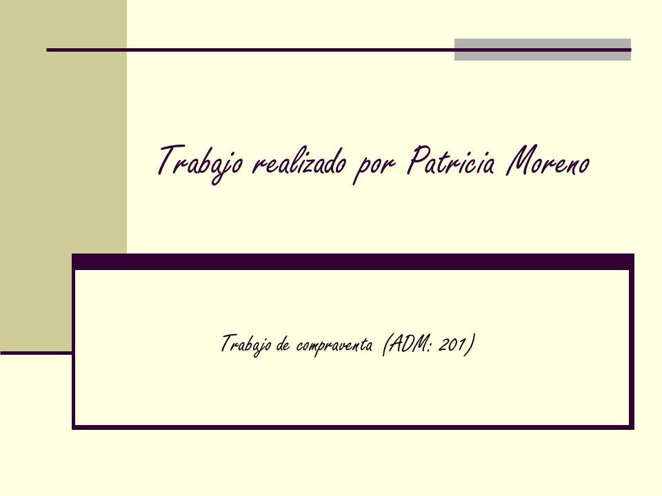 Trabajo realizado por Patricia Moreno