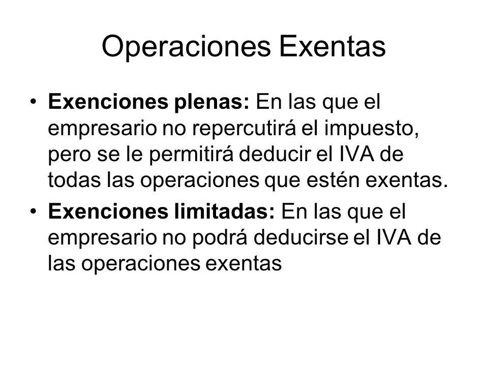 Operaciones Exentas