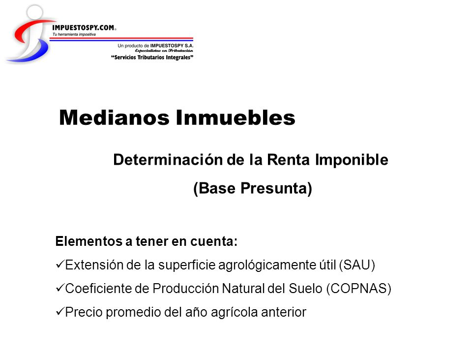 Determinación de la Renta Imponible