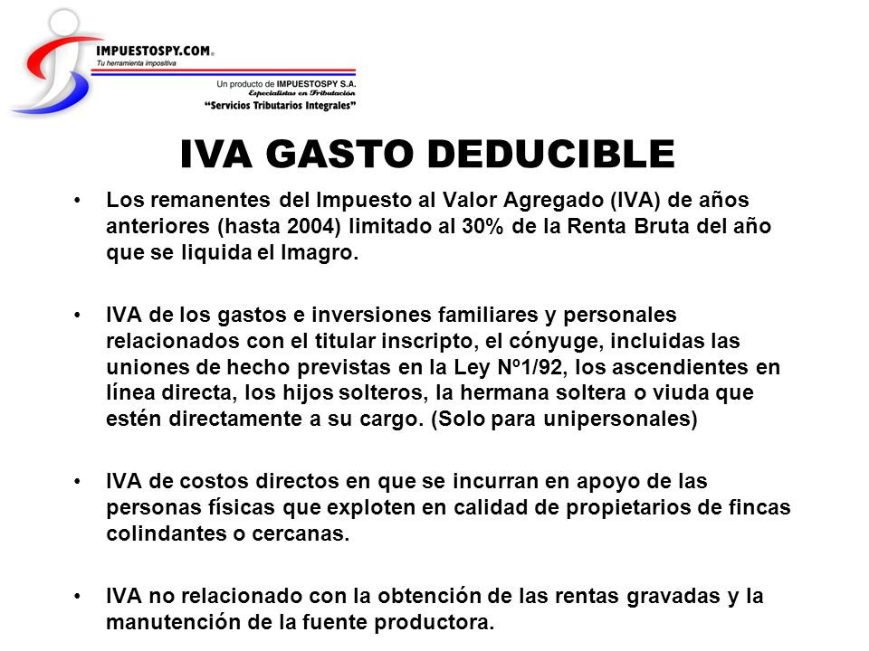IVA GASTO DEDUCIBLE