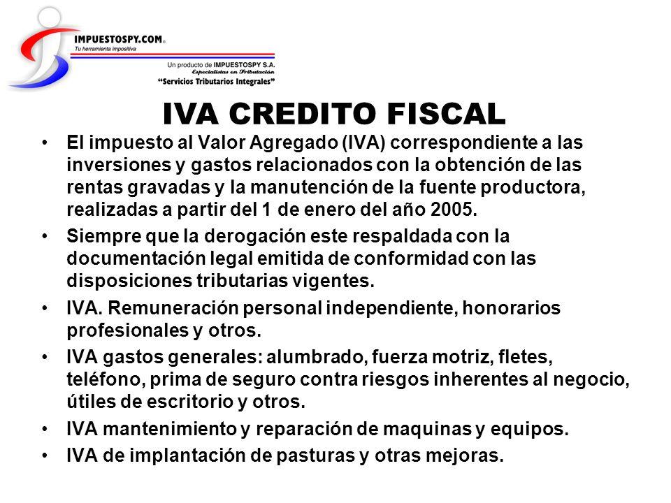 IVA CREDITO FISCAL