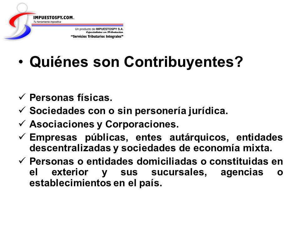 Quiénes son Contribuyentes