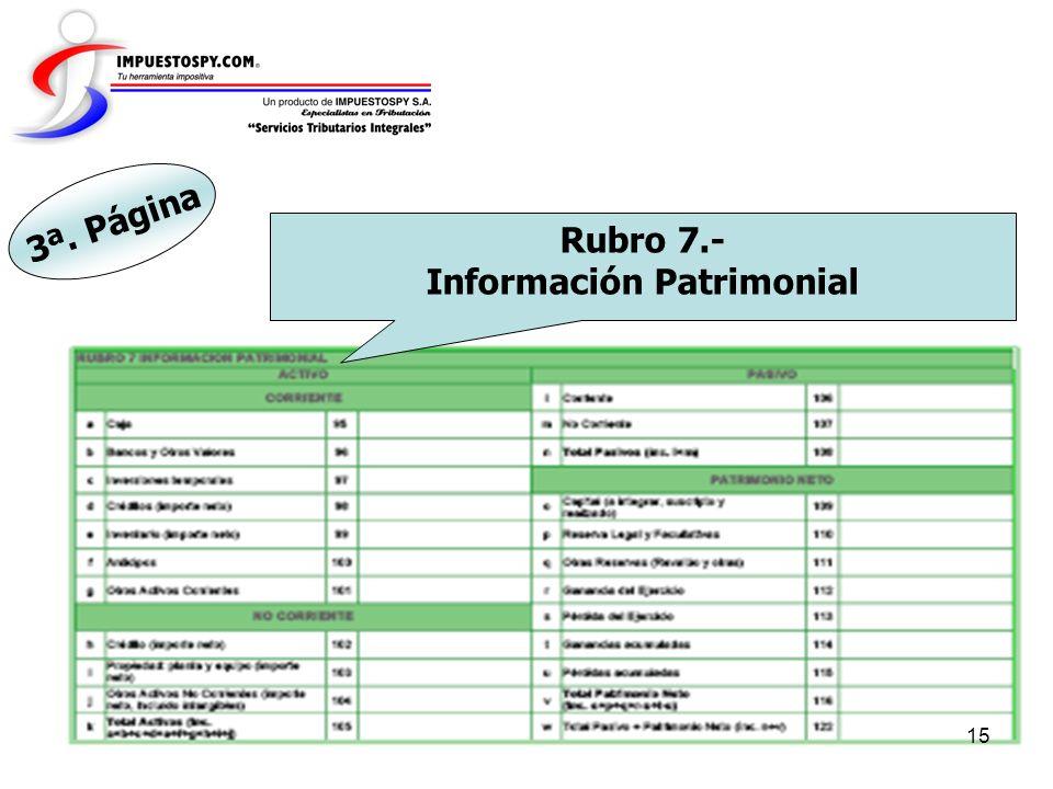Información Patrimonial