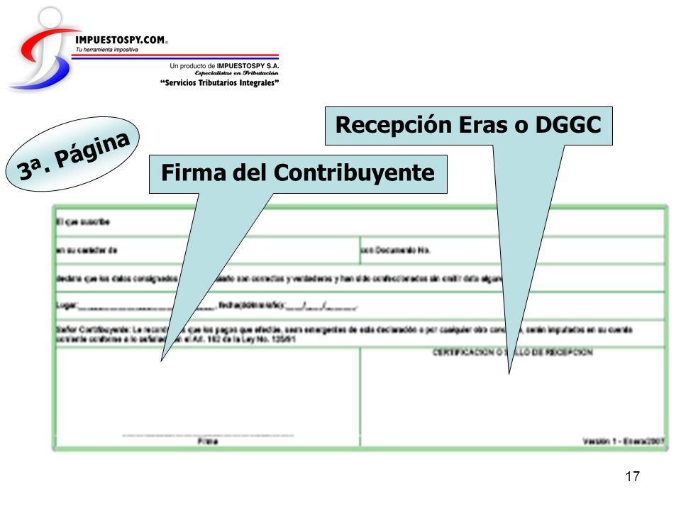 Firma del Contribuyente