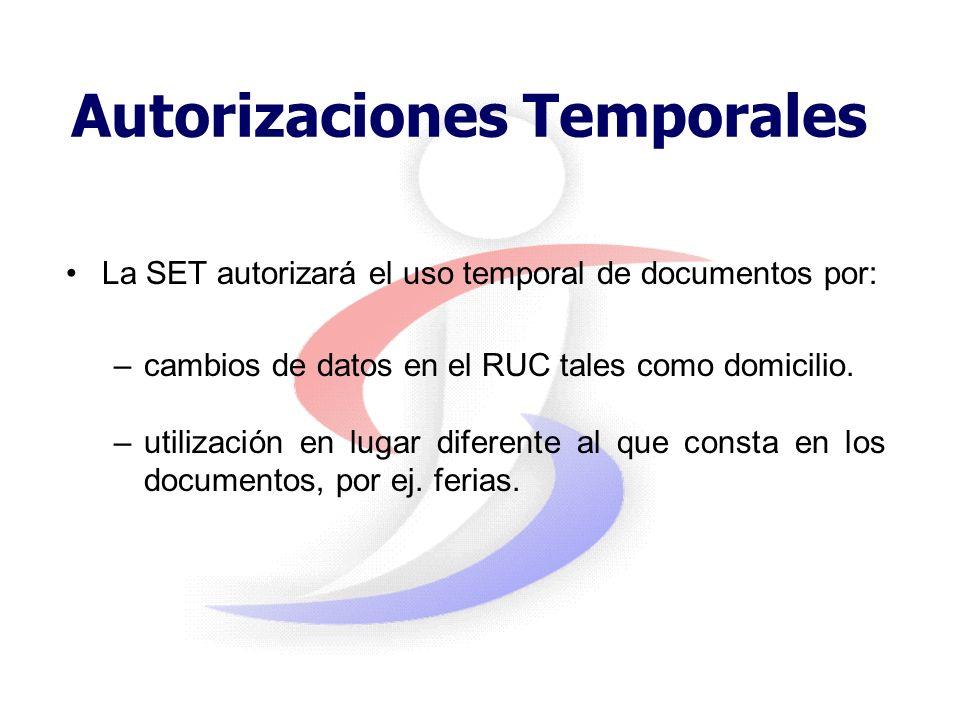 Autorizaciones Temporales