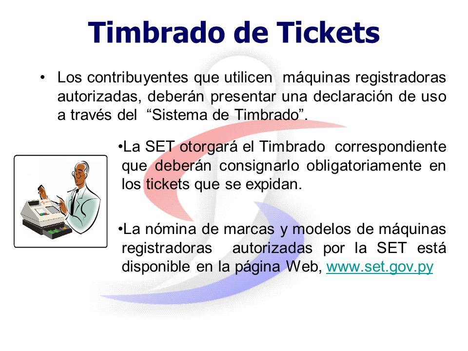 Timbrado de Tickets