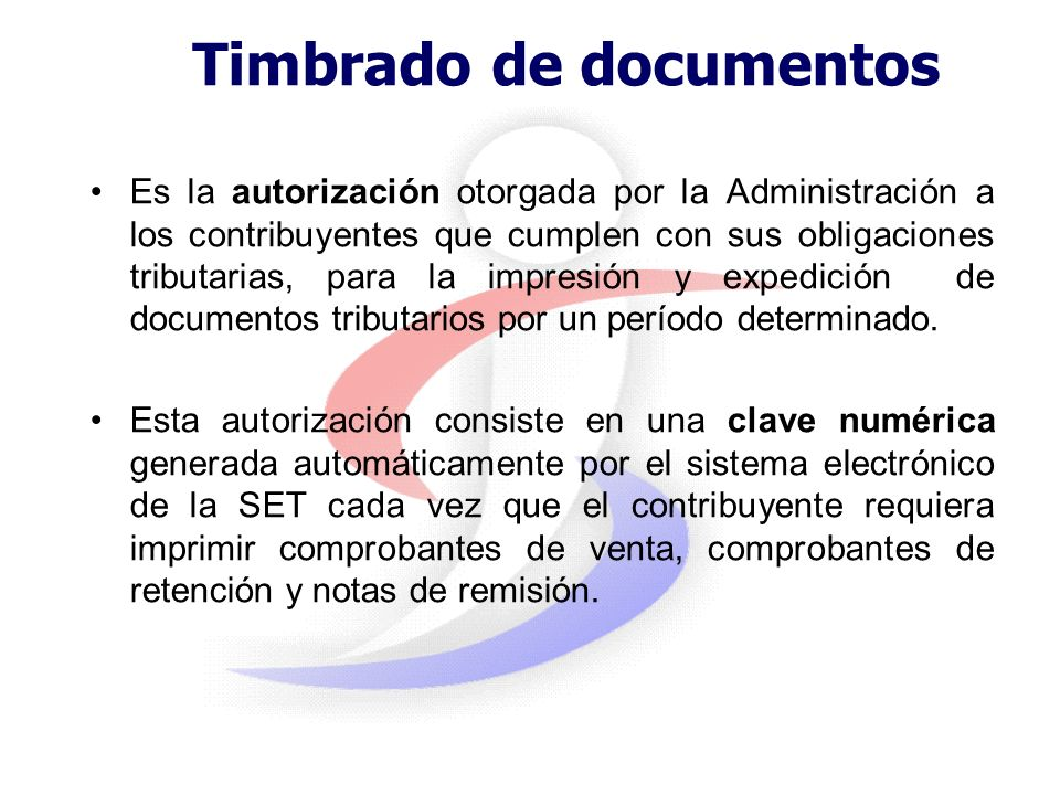 Timbrado de documentos