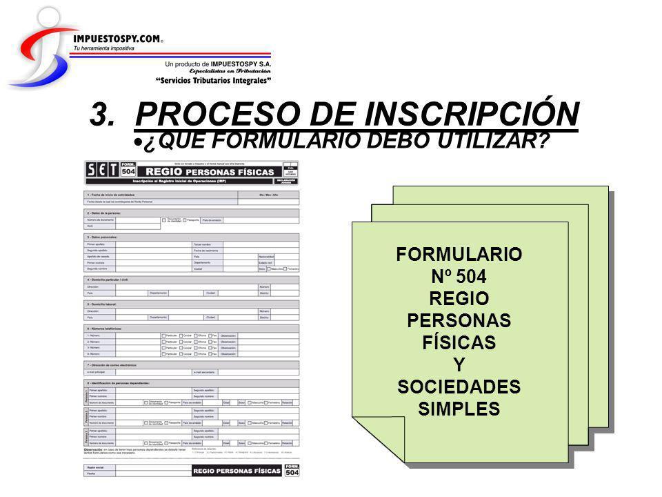 3. PROCESO DE INSCRIPCIÓN