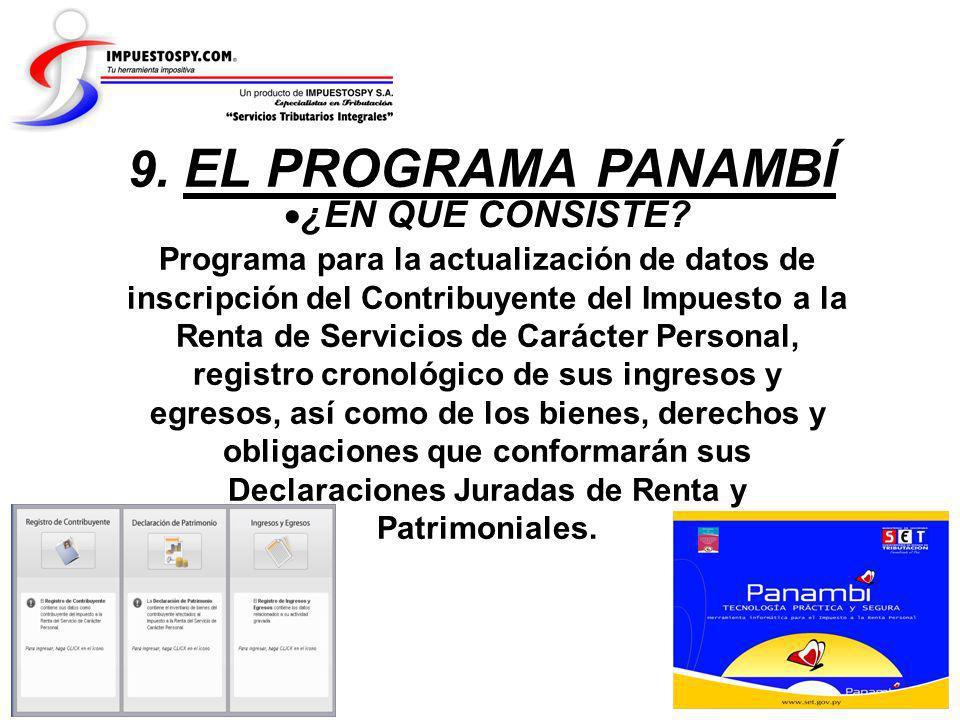 9. EL PROGRAMA PANAMBÍ ¿EN QUE CONSISTE