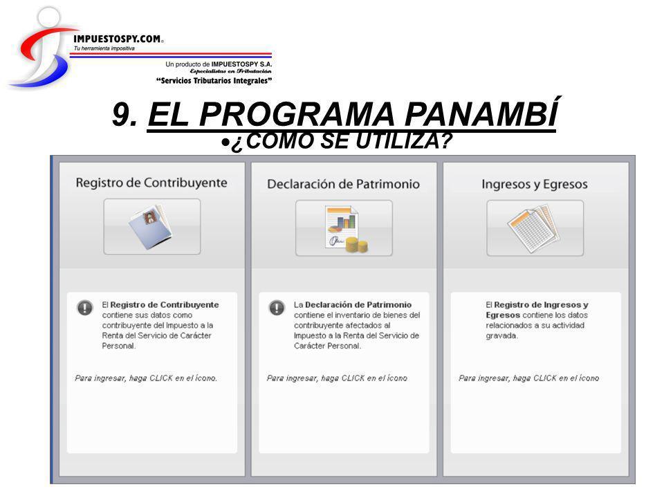 9. EL PROGRAMA PANAMBÍ ¿COMO SE UTILIZA