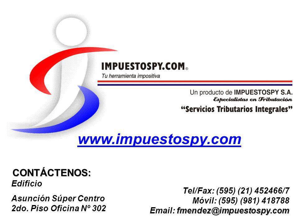 www.impuestospy.com CONTÁCTENOS: Edificio