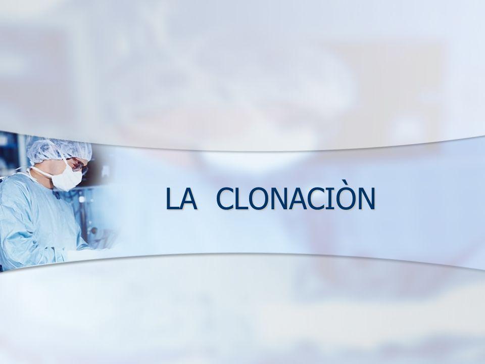 LA CLONACIÒN