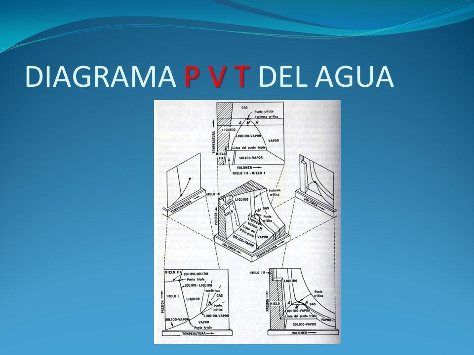 DIAGRAMA P V T DEL AGUA