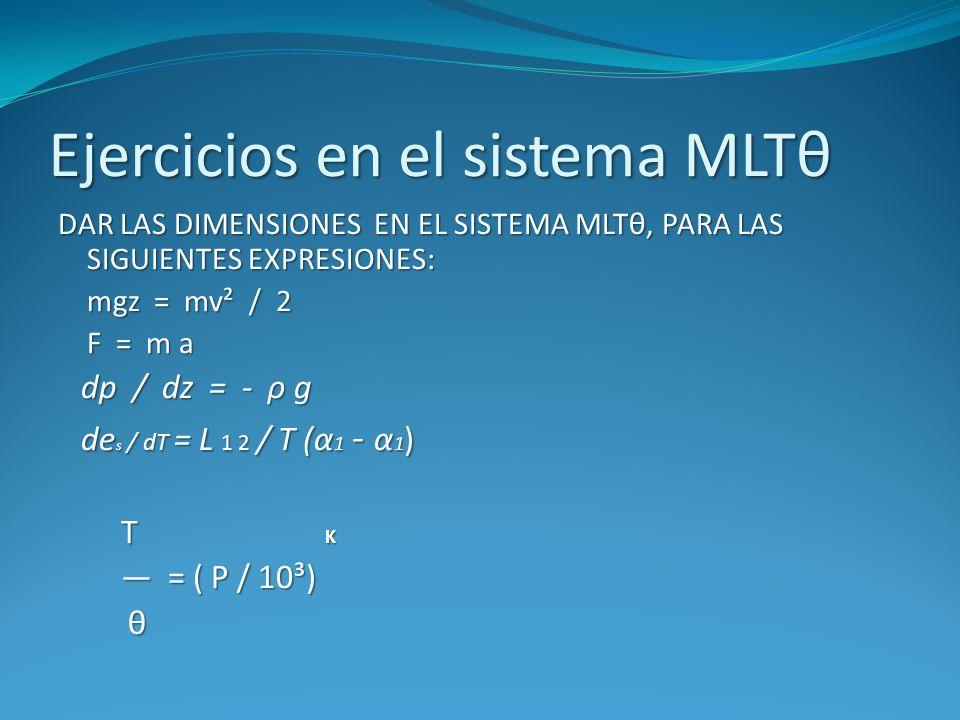 Ejercicios en el sistema MLTθ